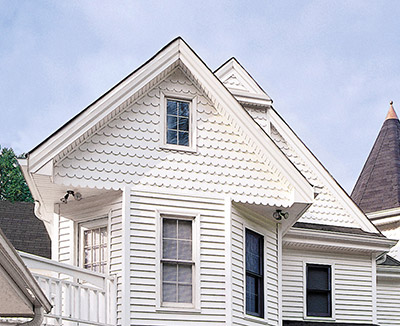 scalloped style siding